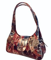Brilliantly Styled Floral Leather Shoulder Handbag For $215